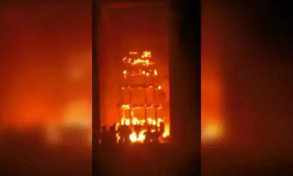 Lakshmi Narasimha temple Fire Accident