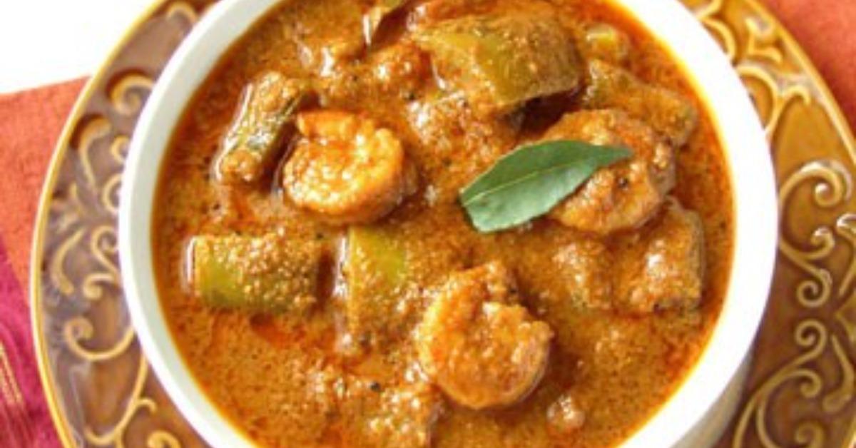 potlakaya pacchi royyalu curry