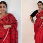 Vidya Balan : రెడ్ పెయింటెడ్ చీరలో విద్యాబాలన్
